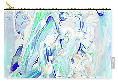 Carry-all Pouch featuring the painting Coastal Splash by Monique Faella
