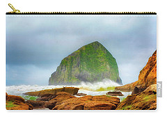 Coastal Storm At Haystack Carry-all Pouch