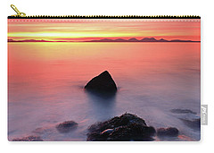 Carry-all Pouch featuring the photograph Coastal Sunset Kintyre by Grant Glendinning