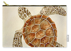 Coastal Waterways - Green Sea Turtle Carry-all Pouch by Audrey Jeanne Roberts