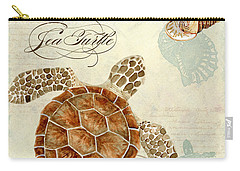 Coastal Waterways - Green Sea Turtle Rectangle 2 Carry-all Pouch