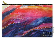 Carry-all Pouch featuring the painting Coatings And Deposits Of Color by Kathy Braud