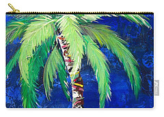 Cobalt Blue Palm II Carry-all Pouch by Kristen Abrahamson