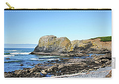 Carry-all Pouch featuring the photograph Cobblestone Beach by Bryan Carter