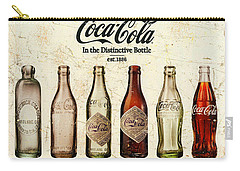 Coca-cola Bottle Evolution Vintage Sign Carry-all Pouch