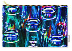 Coca-cola Coke Bottles - Return For Refund - Painterly - Blue Carry-all Pouch