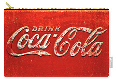 Coca Cola Rustic Carry-all Pouch by Stephen Anderson