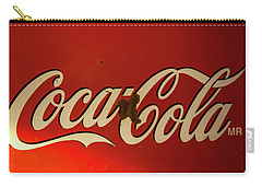 Coca-cola Sign  Carry-all Pouch by Toni Hopper