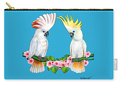 Cockatoo Courtship Carry-all Pouch by Glenn Holbrook