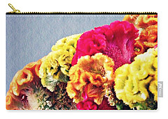 Carry-all Pouch featuring the photograph Cockscomb Bouquet 2 by Sarah Loft