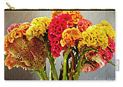 Carry-all Pouch featuring the photograph Cockscomb Bouquet 3 by Sarah Loft