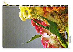 Carry-all Pouch featuring the photograph Cockscomb Bouquet 4 by Sarah Loft