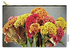 Carry-all Pouch featuring the photograph Cockscomb Bouquet by Sarah Loft