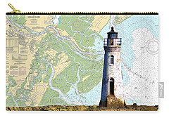 Cockspur On Navigation Chart Carry-all Pouch