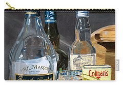 Carry-all Pouch featuring the painting Cocktails And Mustard by Lynne Reichhart
