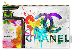 Coco Chanel No. 5 Grunge Carry-all Pouch by Daniel Janda