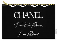 Coco Chanel Quote Carry-all Pouch by Dan Sproul