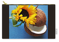 Coconut And Sunflower Harmony Carry-all Pouch