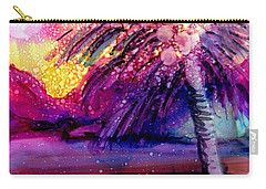 Carry-all Pouch featuring the painting Coconut Palm Tree 2 by Marionette Taboniar
