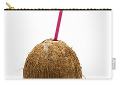 Coconut With A Straw Carry-all Pouch