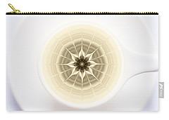 Carry-all Pouch featuring the digital art Coffe Foam Mandala by Klara Acel