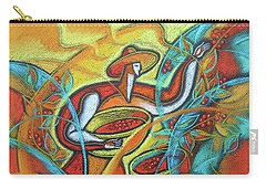 Carry-all Pouch featuring the painting Coffee Bean Harvest by Leon Zernitsky