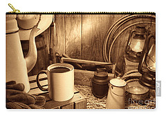 Coffee Break At The Chuck Wagon Carry-all Pouch