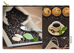 Coffee Collage Photo Carry-all Pouch by Serena King