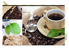 Coffee Collage  Carry-all Pouch by Serena King