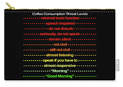 Coffee Consumption Threat Levels Mug Carry-all Pouch