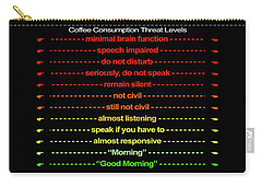 Coffee Consumption Threat Levels W Finger Points Mug Carry-all Pouch