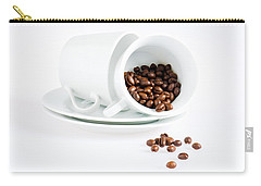 Coffee Cups And Coffee Beans  Carry-all Pouch