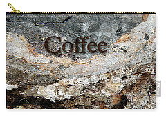Coffee Edit 2 Brown Letters Carry-all Pouch