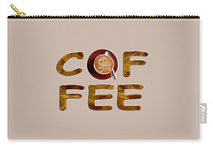 Carry-all Pouch featuring the painting Coffee Funny Typography by Georgeta Blanaru