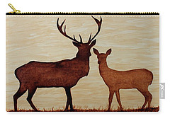 Coffee Painting Deer Love Carry-all Pouch