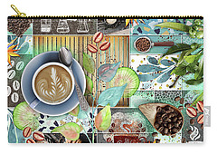 Coffee Shop Collage Carry-all Pouch