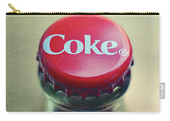 Coke Bottle Cap Square Carry-all Pouch by Terry DeLuco