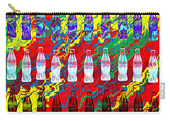 Carry-all Pouch featuring the digital art Coke Life, Happy Life by Saad Hasnain