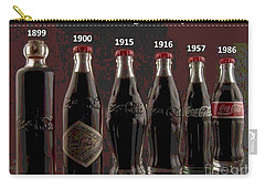Coke Through Time Carry-all Pouch by George Pedro