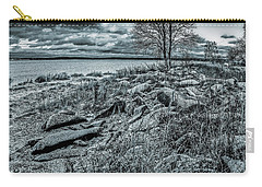 Carry-all Pouch featuring the photograph Cold Autumn Day by Vladimir Kholostykh