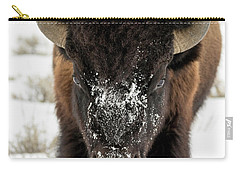 Cold Bison Stare Carry-all Pouch