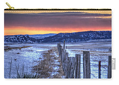 Cold Country Sunrise Carry-all Pouch by Fiskr Larsen