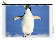Cold Feet - Penquin In The Snow Carry-all Pouch
