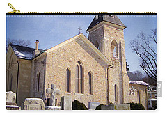 Carry-all Pouch featuring the photograph Cold Stone Service by T Brian Jones