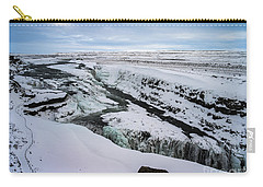 Cold Winter Day At Gullfoss, Iceland Carry-all Pouch