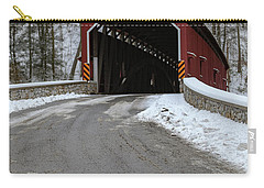 Colemansville Covered Bridge After Winter Snow Carry-all Pouch