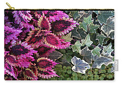 Carry-all Pouch featuring the mixed media Coleus And Ivy- Photo By Linda Woods by Linda Woods