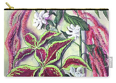 Carry-all Pouch featuring the painting Garden Dreams by Randol Burns