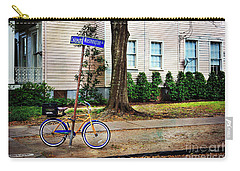 Carry-all Pouch featuring the photograph Coliseum-washington Bicycle by Craig J Satterlee