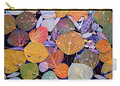 Collage Of Aspen Leaves At Mcgee Creek In The Eastern Sierras Carry-all Pouch